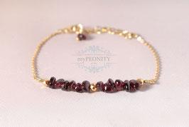 Granat - und goldener Pyrit, Armband, Schmuck Set