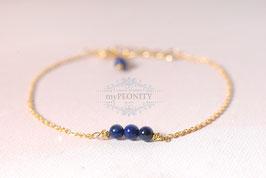 Vier Perlen  - Lapislazuli Armband