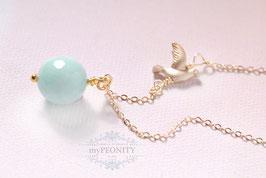 Jade - Vogel Anhänger, Halskette