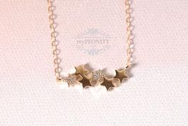 Sternenstaub - Sterne mit Zirkonia, Halskette