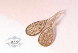 Orientalische Tropfen - Ohrhänger, vergoldete