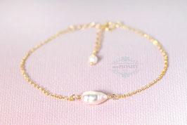 Single Pearl - einzelne Perle, zartes Armband
