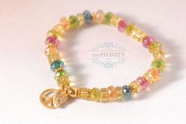 Sunshine - Armband, Peace Zeichen, Blatt