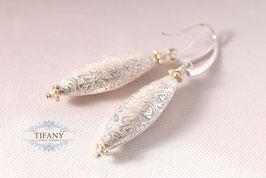 Gold & Silber - zwei Farben, lange Ohrringe - leider ausverkauft
