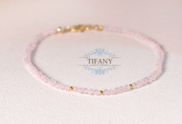 leider Ausverkauft: Tiny Sweetness - Rosenquarz Armband