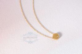 Halskette und Anhänger - Sterlingsilber vergoldet
