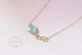 Infinity Summer - blauer Chalzedon, Halskette