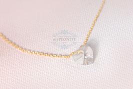 Petite Kristall - Herz, zarte Halskette