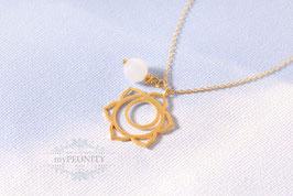 Chakra - Jade Anhänger, Halskette