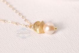 Gold Perle - Anhänger mit goldfilled Halskette
