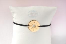 Kompass - Freundschaftsband, Silber- Goldfarben