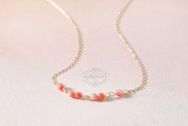 Zarte Korallen - Perlen, Halskette