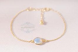 Opalit - Armband Sterlingsilber vergoldet