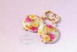Perlmutt Vintage - Blumen Ohrringe