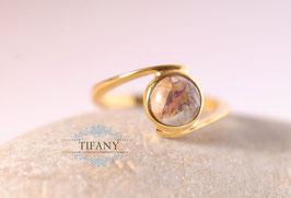 Mookait - Jaspis Ring, 925 Silber vergoldet - leider ausverkauft
