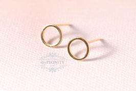 Circle - vergoldete Ring Ohrstecker