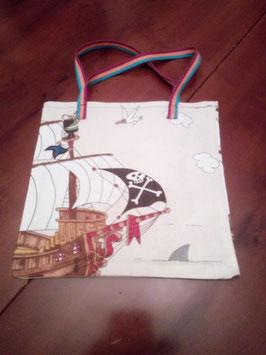 Einkaufsbeutel - Piratenschiff auch kleine Piraten haben Hunger