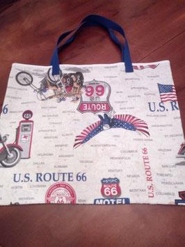 Einkaufsbeutel -  ROUTE 66 - Amerika läßt grüßen