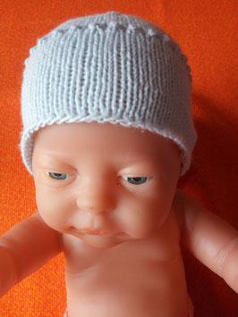 Mütze aus Bio Baumwolle für Kopfumfang ca. 30 cm