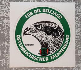 """Aufkleber """"Für die Beizjagd"""" - Habicht"""