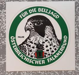 """Aufkleber """"Für die Beizjagd"""" - Falke"""
