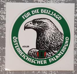 """Aufkleber """"Für die Beizjagd"""" - Adler"""