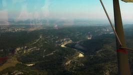 Option 3 : 30 minutes de vol en ULM: Le vol idéal pour découvrir la région Gorges du Gardon - Pont du Gard, une des meilleures promenades de la région