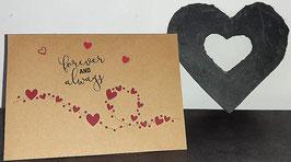 Liebe, hellbraun, Herzschnur