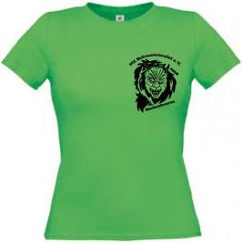 Damen T-Shirt grün, Rundhals-Ausschnitt