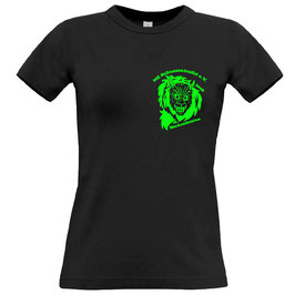 Damen T-Shirt schwarz, Rundhals-Ausschnitt
