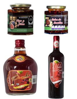 Pack (Licor de Granada, Ponche de Granada, Mermelada de Higo, Salsa de Semillas)