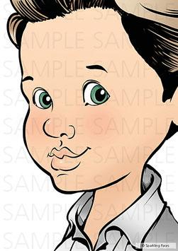 Schminkvorlage Ben, 3/4 Profil