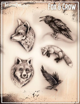 """Schablone """"Fox & Crow"""""""