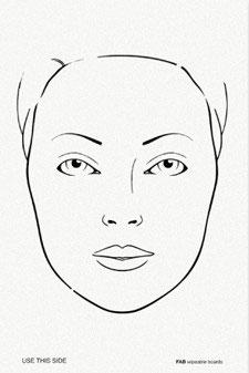 Transparenter Vordruck mit Gesicht