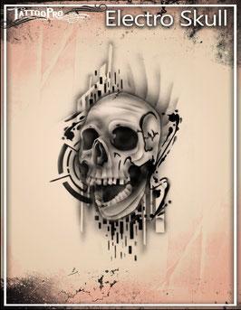 "Schablone ""Electro Skull"""