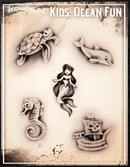 """Stencil """"Ocean Fun"""""""