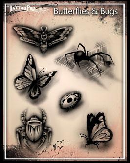 Stencil Butterflies & Bugs