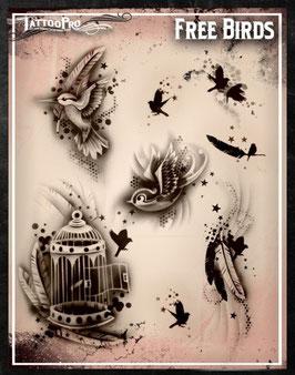 Stencil Free Birds