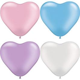 "Herzballons ""Perlen"" Mischung"