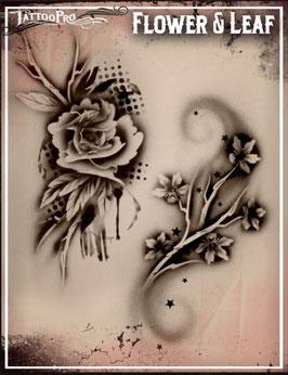 """Schablone """"Blume und Blatt"""""""