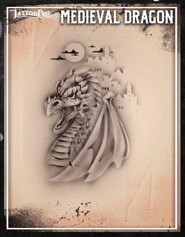 Stencil Medieval Dragon