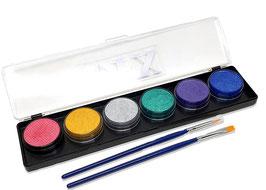Diamond FX 6 Farben Metallic Palette