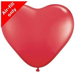 """Herzballons """"Rot"""" Mischung"""
