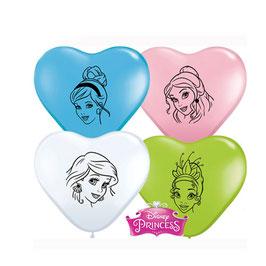 Herzballons Prinzessinnen