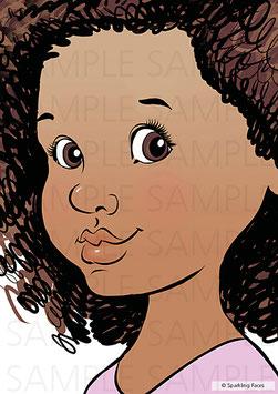Schminkvorlage Isabelle, 3/4 Profil