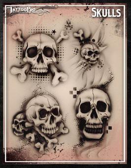 Stencil Skulls
