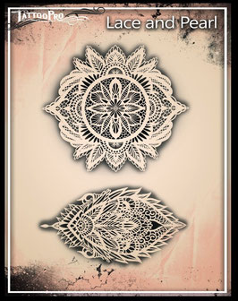 Stencil Lace and Pearl