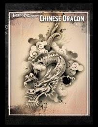 Stencil Chinese Dragon