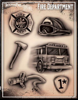 "Stencil ""Fire Department"""