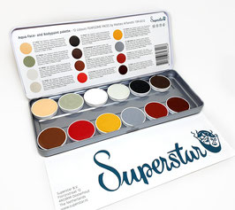 "Superstar 12 Farben Palette ""Fearsome Faces by Matteo Arfanotti"""